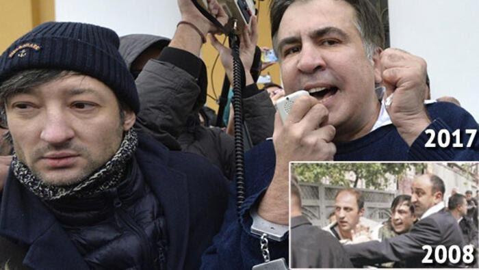 Saakaşvili ve taraftarları polisle çatışıyor...